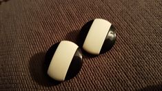 Plastic Jewelry, Cufflinks, Black And White, Vintage, Accessories, Collection, Fashion, Black White, Blanco Y Negro