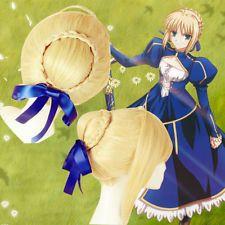 Japão Anime Fate Stay Night Saber Lily Cosplay Peruca + Presente De Cavalo