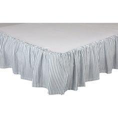 Striped Bedding, Striped Quilt, Ruffle Bedding, Ticking Stripe, Blue Bedding, Comforter Set, Farmhouse Style Bedrooms, Modern Farmhouse Decor, King Beds