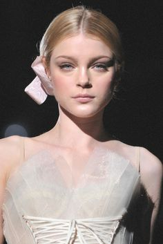 Jessica Stam at Dolce and Gabbana, s/s 2009.