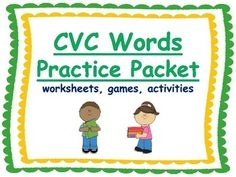 CVC Words Practice PacketYou will find:picture/word match (2)board gameroll, read, and writespell words to match pictures (2)word search and spellingDraw a line from picture to word (2)matching gameFill in the blank sentencesAnswer pageI hope you find these activities useful and fun!Thank you!!