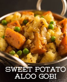 Recipe of the Day!> Sweet Potato Aloo Gobi> It's one of my family's favourites too, partly because it's so easy to make, but mostly because it's full of so much addictive bright flavour! #MeatlessMonday