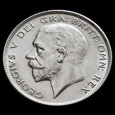 1929 George V Silver Half Crown - A/UNC