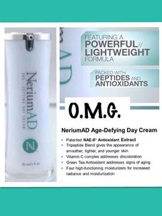 Now our new product is here! Nerium Age-Defying Day Cream compliments the Nerium Age-Defying Treatment Night Cream, giving even MORE results! Try it for yourself! What's there to lose?! Wrinkles;)