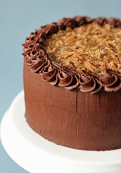 Mile High German Chocolate Cake #chocolates #sweet #yummy #delicious #food #chocolaterecipes #choco