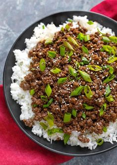 Instant Pot Korean Ground Beef - Bulgogi has incredible flavor! Use this amazing meat for Korean beef tacos, Korean beef rice bowl, or Korean beef lettuce wraps. This pressure cooker Korean ground beef is delicious, and so fast and easy. Make your rice at the same time!