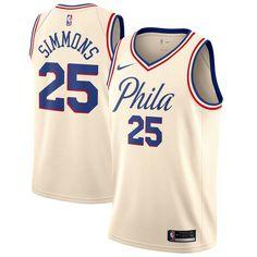 66c5aa67cc7 Nike 76ers  25 Ben Simmons Cream NBA Swingman City Edition Jersey