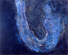 Blue U-Turn (1989), by Susan Rothenberg, via speronewestwater.com