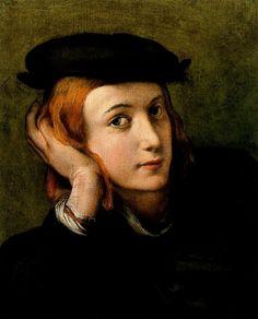 Correggio (Italian; High Renaissance, Mannerism, 1489–1534): Portrait of a Young Man, 1525. - Google Search
