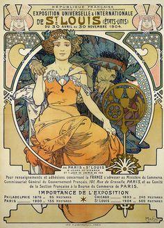 Louisiana Purchase Exposition 1904 (St. Louis)  Mucha poster