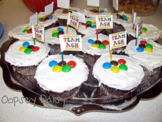 Cupcakes! use M for the Olympic Rings. Simple. Cute, and Festive!