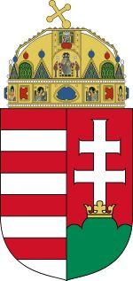 National symbols of Hungary - coat of arms Hungary Flag, National Symbols, Austro Hungarian, Gif Animé, Family Crest, Central Europe, Crests, My Heritage, Coat Of Arms