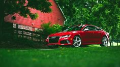 Red Audi RS7 HD Wallpaper