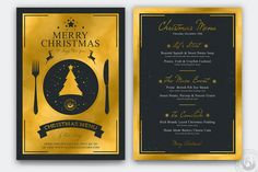 Christmas Menu Designs – Free and Premium Templates | EntheosWeb Blog Flyer Design Templates, Menu Template, Menu Design, Print Templates, Christmas Flyer Template, Sweet Potato Soup, Christmas Pudding, Free Fonts Download, Journal Cards