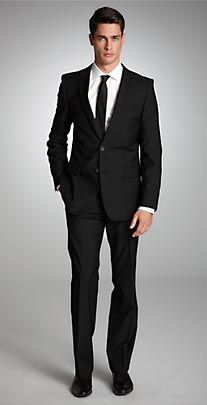 Great navy suit with slim fit from Hugo Boss. Excited being asked