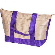 #FabricHandbags, #Handbags, #MaggieBags - Maggie Bags Tote of Many Colors: Zipper Top Ultra Violet Combo - Maggie Bags Fabric Handbags