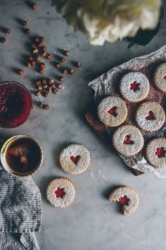 Linzer Cookies | O&O Eats - add 1/2 teaspoon salt and 1/2 brown (to nut meal) 1/2 granulated sugar (to butter)