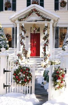 red outdoor Christmas decoration