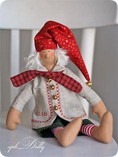 Купить Рождественские гномики тильда - кукла интерьерная ручной работы - разноцветный, тильда, тильда гном