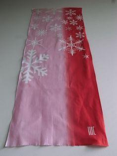 "rikka...snow crystal c/# red  tenugui ""cu3"""