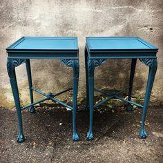 #newpieces #availablenow #reimagined #vintage #endtables #eastcoteblue #paintedfurniture #homefurnishings #eastcotelane