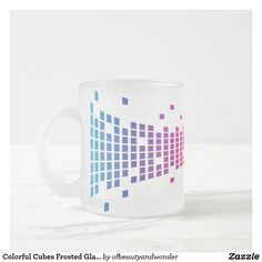 Colorful Cubes Frosted Glass Mug - home gifts ideas decor special unique custom individual customized individualized Special Gifts, Fun Gifts, Cubes, Personalized Products, Mug Designs, Frosted Glass, Drinkware, Home Gifts, Photo Mugs