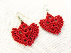 Image: Crochet Pattern…Dangle Earrings