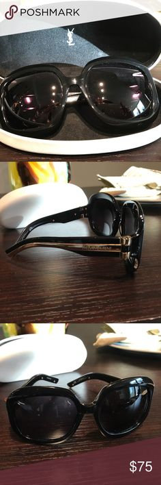 b5215442a7d YSL Blk Sunglasses Model 6187 S Used Sunglasses minor scratches on frame