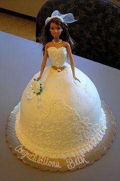 Barbie wedding cake for Beth