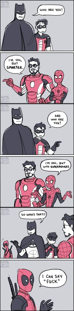 I literally just busted out laughing at this.Omg,Deadpool.....