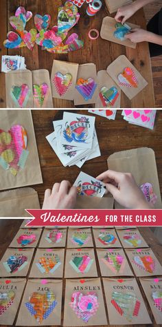 ♥ ♥ ♥ the Mixed-Media look to these Valentines!!! :) ... Valentines For The Class | Art Bar Blog