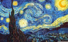 """Notte stellata"", Vincent van Gogh, 1889; olio su tela, 73x92"