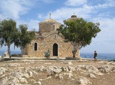 the church on the hill overlooking Protaras, Cyprus - have to climb stairs but so worth it!!