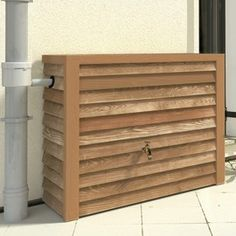 The Woody Wall Tank is a very robust decorative rainwater storage tank. It features an ultra-realistic wood effect finish and it's slim design is very convenient.