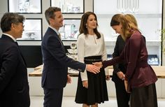Crown Prince Frederik and Crown Princess Mary of Denmark attended opening of the ECCO store on May 20, 2015 in Munich, Germany