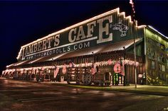 Lambert's Cafe - Foley, AL Super fun place to eat with good food, have rolls thrown at you, fried okra and see unique wall decorations.