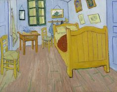 The Bedroom, 1888, Vincent van Gogh, Van Gogh Museum, Amsterdam (Vincent van Gogh Foundation)