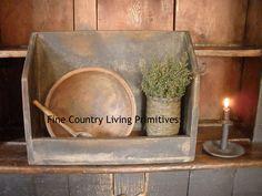 Large Dough Bowl Rack in Dry Rub Finish.  www.finecountrylivingprimitives.com