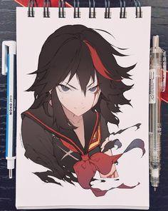 for the art Kill La Kill Cosplay, Kill A Kill, Manga Drawing, Manga Art, Manga Anime, Art Reference Poses, Drawing Reference, Character Design References, Character Art