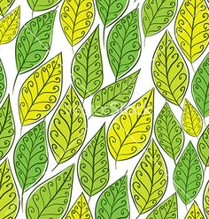 Seamless floral background green leaves seamless vector  by Sylverarts on VectorStock®
