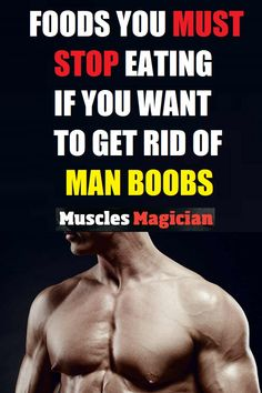 Man boobs mean increased body fat and hormonal disbalance.Your diet has big influence here. Read what foods to avoid if you want to get rid of man boobs. Full Body Workout Plan, Best Chest Workout, Chest Workouts, Chest Exercises, Facial Exercises, Best Workouts For Men, Easy Workouts, At Home Workouts, Workout Tips