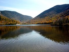 Echo Lake, Franconia State Park, N.H., in the White Mountains. http://visitingnewengland.com/blog-cheap-travel/?p=2416