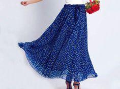 chiffon country maxi skirt (0131)