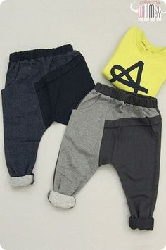 Split Slouch Pants. Street fashion styles for boys at Color Me WHIMSY. by carlani