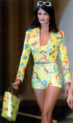 Helena Christensen for Versus by  Versace Spring/Summer 1996
