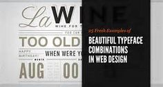 Great Typography Websites - Bing images