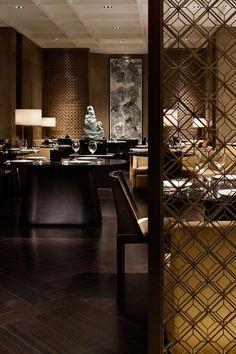 Ein sehr elegantes Design eines Restaurants in Beijing.