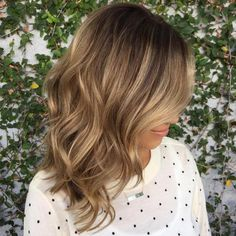 Medium Layered Bronde Hairstyle