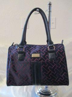 Tommy Hilfiger Handbag Satchel 6932303 481 Color Blue Gold Retail Price $ 79.00 #TommyHilfiger #Satchel
