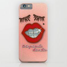Shiny Braces, Red Lips, Mole, and Thick Eyelashes iPhone Case by Thicker Eyelashes, Cool Iphone Cases, Mole, Red Lips, Profile, Plastic, Slim, User Profile, Mole Sauce